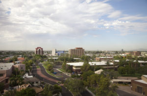 Urban Mesa Arizona Aerial View of City Skyline - mesa respite care and senior care