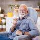 Senior inhalation therapy in progress